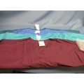 Lot of 4 Scrub Zone Extra Large Teal Green Burgundy Blue T-Shirt