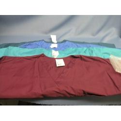 Lot of 4 ScrubZone Teal Green Burgundy Blue T-Shirt - XL