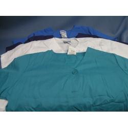 Lot of 4 Scrubs Landau Top Teal White Purple Blue T-Shirts - L