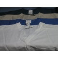 Lot of 4 Scrubs Zone Shirts Large Teal Tan White Blue