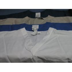Lot of 4 Scrubs Zone Shirts Teal Tan White Blue - L