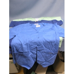 Lot of 4 Landau Scrub Shirts  Blue and  Green - XS