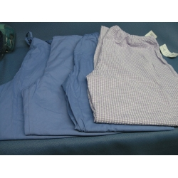 Lot of 4 Barco Scrubs Ciel Blue  purple check - XL