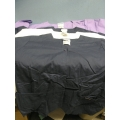 Lot of 4 Landeau Scrub Shirts XL Navy Purple White
