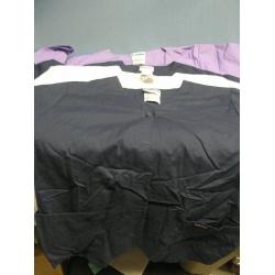 Lot of 4 Landeau Scrub Shirts Navy Purple White - XL