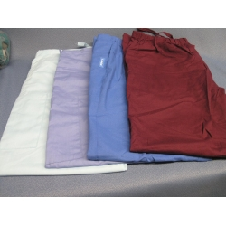 Lot of 4 Landeau Scrub Pants Burgundy Lt Blue M Blue D Blue - M