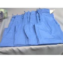 Lot of 4 Barco Scrubs Pants Royal Blue - XS