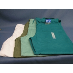 Lot of 4 Landeau Scrub Pants Teal White Khaki Lt Green - L