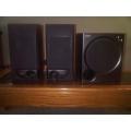 Kenwood Bookshelf Speakers & Sony Sub-Woofer - Self Amplified