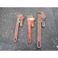 Lot of 3 Pipe Wrenches Ridgid Mastercraft Alltrade