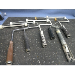 Lot of Five Paint Rollers and a Brush Spinner