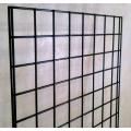 Lot of 2 Grid Wall Panel Racks 2x6, 24x72 Security bars Door
