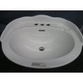 Foremost White Bathroom Ceramic Basin Sink RC36 Raised Back
