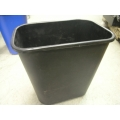 Black Plastic Garbage Can Waste Basket