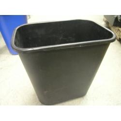 Black Plastic Garbage Can Waste Basket