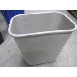 Grey Plastic Garbage Can Waste Basket