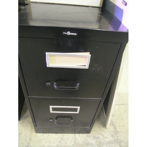 Exceptional Black 2 Drawer ProSource Filing Cabinet 15x27x29