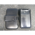 Black Otter Box Protective Case w Belt Clip for HTC Smartphone