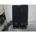 Pair of Black Logitech Computer PC Speakers S-0153A1
