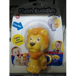 Lot of 3 Flash Buddies Flashlights - Lion