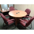 """Round Wooden 36"""" Meeting Table"""