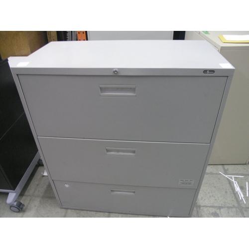 3 Drawer ProSource Locking Beige Lateral Filing Cabinet