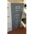 Grey 4-Drawer Vertical Filing Cabinet