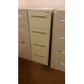 Beige 4-Drawer Vertical Filing Cabinet