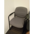 Grey Sleigh Guest Side Chair w Full Arms