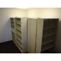 Beige Tab Metal Shelving Shelf 6-Shelves