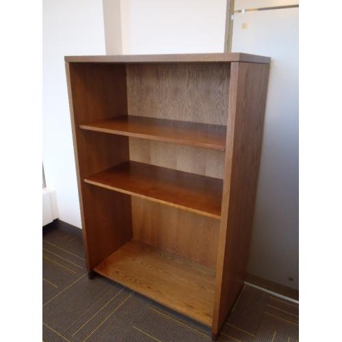 Maple Short Bookcase Bookshelf 3 Shelves 36x13x44