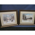 Lot of 2 Paintings Glenmore Park by Fanny Fynebuik