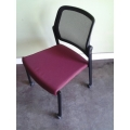 Allsteel Acuity Mesh Back Stacking Side Chair w Rolling Option