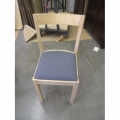Blonde Maple Wood Blue Cloth Guest Chair, Ikea Style