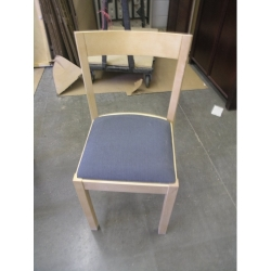 Blonde Maple wood Blue Cloth Chairs, Ikea Style