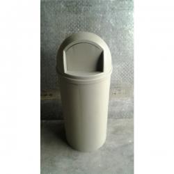 Grey Rubbermaid Garbage Bin Single-Door Domed Receptacles