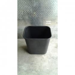 Small Plastic Office Black Garbage / Recycle Bin
