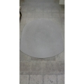 "Grey Static Mat Under Chair Floor Protector 47"" x 56.5"" Oval"