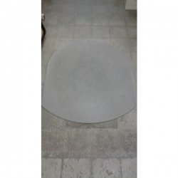 """Grey Static Mat Under Chair Floor Protector 47"""" x 56.5"""" Oval"""