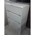 "Beige 4 Drawer Lateral Locking File Cabinet 36"" x 18"" x 53"""