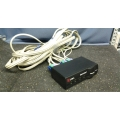 Avocent / Cybex Switchview 4 Port KVM Switch w/ 4 Cable Sets