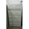 Haworth 5 drawer Lateral File Cabinet Beige