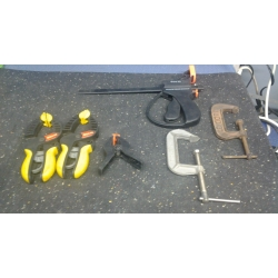 Lot of 16 Assorted Clamps
