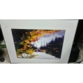 Denison Gallery Commercial Art Print Fall Lake