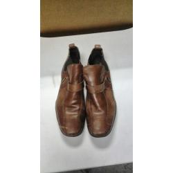 Aquiles 2008 Brown Leather men shoes sz 42