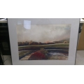 40 inch x 32 inch scenic railway Art Work with frame