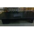 "Black Real Wood Veneer Work Desk w/ tapered edge 84x63x61"""