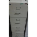 CS Line 4 Drawer Beige Vertical Filing Cabinet 26 3/4 x 18 x 52