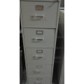 HON 5 Drawer Grey Vertical Filing Cabinet 26 1/2 x 18 1/4 x 60
