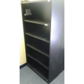 Teknion 5 Shelf Metal Black Shelving Unit 36x15x65 1/2""